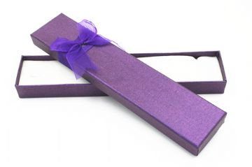 24 boxes x 20.5*4*2mm Long Rectangular jewellery box - deep purple  - 45p each